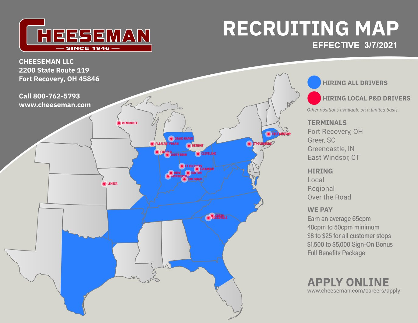 Download Our Recruiting Map